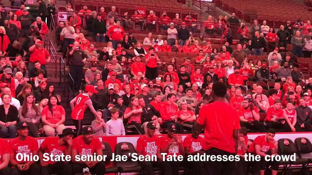 The Ohio State men's basketball team held a watch party for Sunday's NCAA Tournament selection show. The Buckeyes will go to Boise as a fifth seed and face No. 12 South Dakota State on Thursday.