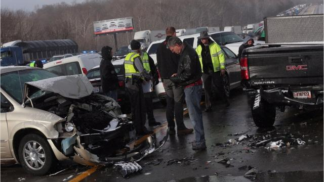 The southbound lanes of I-71 have reopened after a massive multiple vehicle pileup on Interstate 71 in Morrow County on Tuesday afternoon, but the northbound lanes remain closed.