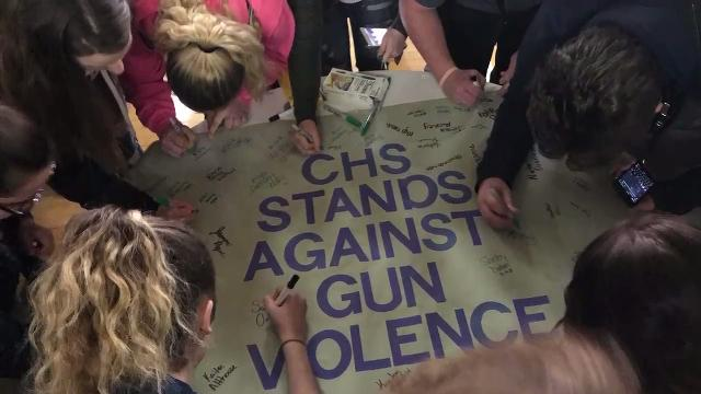 The shooting data used by the students is from the Gun Violence Archive, which has been tracking school shootings since 2014 and used in a Feb. 15, 2018 New York Times story.