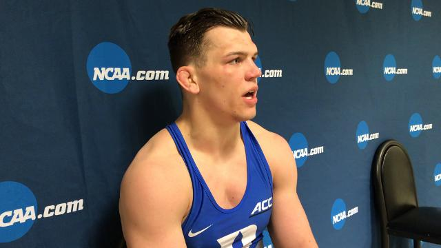 Lex grad and Duke senior wrestler Jacob Kasper at the NCAA Championships on how he prepares mentally and physically