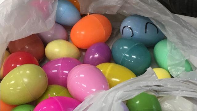 Lexington Senior Center has an Easter egg hunt Thursday where senior citizens had a lot of fun finding 360 eggs.