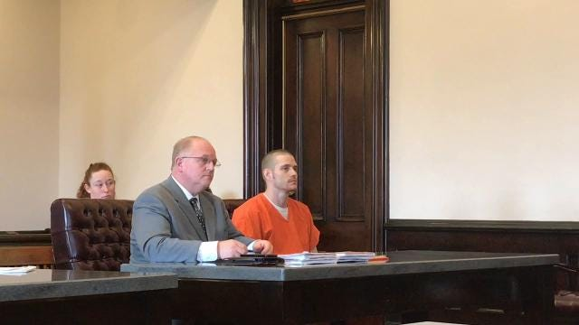 Jared McMasters was sentenced to one year in prison for charges of tampering with evidence and failure to appear Tuesday in Coshocton County Common Pleas Court.