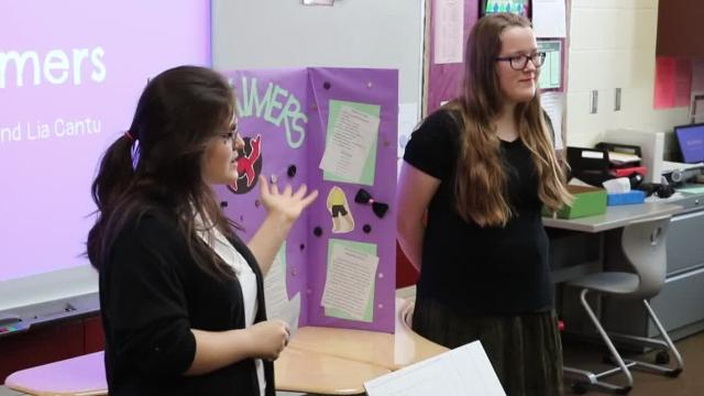 "On Wednesday, Port Clinton Middle School's Young Entrepreneurs dove into the ""Shark Tank"" to present their ideas for local businesses to a panel of judges, or the sharks, working in the field."