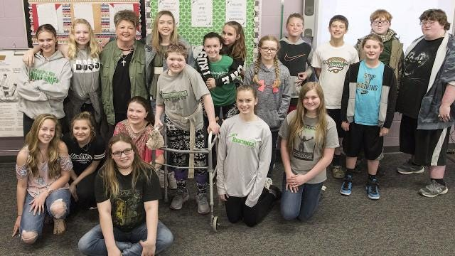 Huntington substitute teacher Michelle Pollock talks about the love of her job and the support of the school as she searches for a kidney donor.