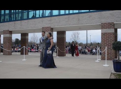 The Zanesville High School promenade Saturday evening.