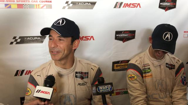 Helio Castroneves and Ricky Taylor talk about their win at Mid-Ohio on Sunday