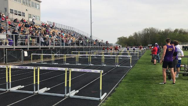 Mansfield Senior's Alaya Grose broke her own Ohio Cardinal Conference record in the 100 hurdles with a 14.94 in Friday's meet