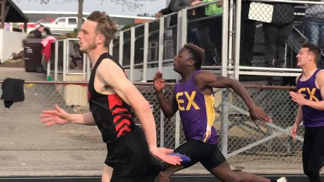 In leading Ashland to a threepeat OCC title, Hudson McDaniel won four events for the third straight year. He won the 110 hurdles, the 100 dash, the 4x100 as anchor and the 300 hurdles.