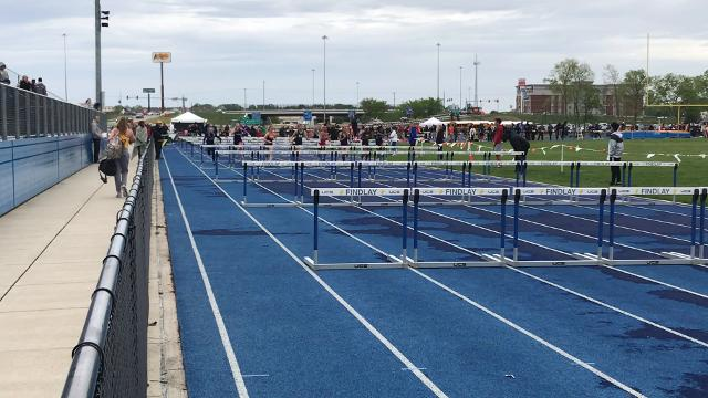 Madison freshman Kari Eckenwiler wins the 100 hurdles, goes on to qualify for regionals in four events.