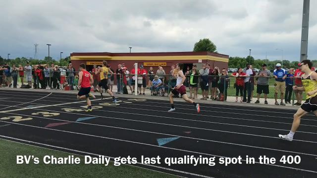 River Valley won the girls 4x400 relay to swing the Division II, District 1 team championship in its favor Saturday at Westerville North. The Vikings edged Buckeye Valley by four points.