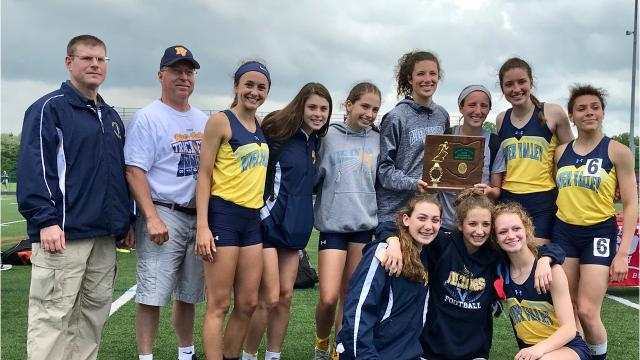 River Valley beat Buckeye Valley 118-114 to win the Division II, District 1 girls team championship for the second straight year as it came down to the final event with the 4x400 relay which the Vikings win.