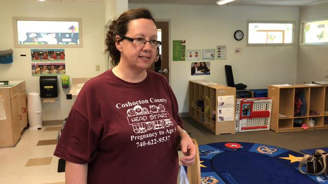 Susan Craddock, Executive Director of Coshocton County Head Start, talks about emotional and social development of children in a newly redesigned classroom.