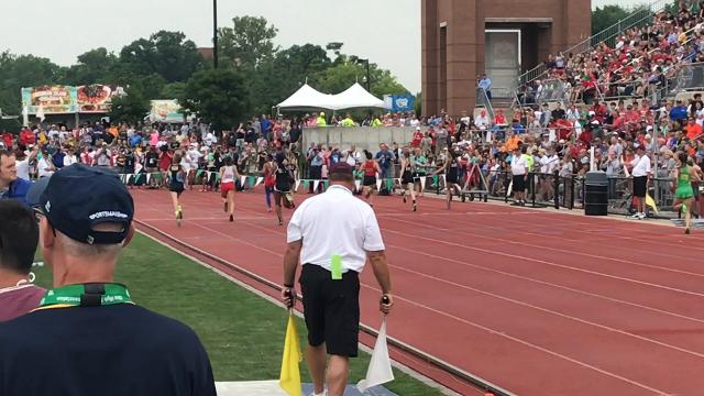 Footage from state track meet Friday.