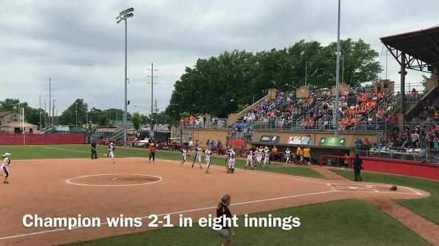 Warren Champion beat North Union 2-1 in eight innings in a Division III state semifinal softball game at Akron's Firestone Stadium.