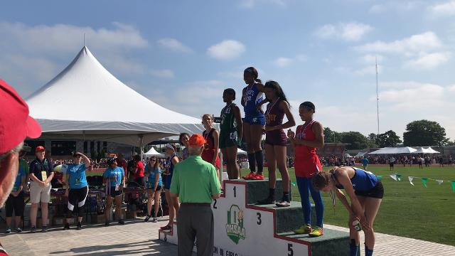 St. Peter's Alysse Wade wins a repeat state title in 100 dash. I'll
