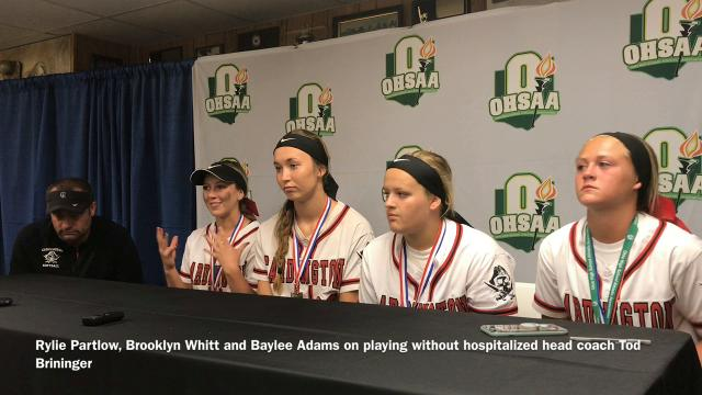 Cardington head softball coach Tod Brininger was hospitalized overnight with an undisclosed condition and could not be at Saturday's Division III state championship softball game in Akron against Warren Champion.