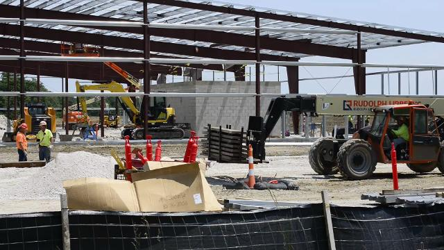Construction is underway for Standard Wellness LLC's 50,000-square-foot medical marijuana cultivation facility at Clearview Industrial Park in Gibsonburg.