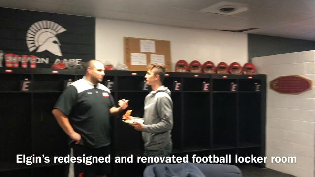 This spring the Elgin football team and coaching staff redesigned and renovated its football locker room and unveiled it Thursday during an open house.