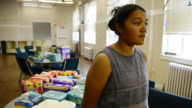 Natalia Alonso, 15, of Fremont is collecting food, diapers, clothing and necessities for the children of workers arrested Tuesday at two Corso's Flower & Garden Center locations in Sandusky and Castalia.