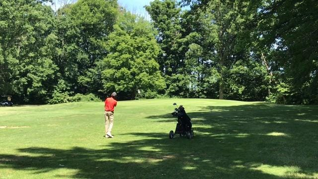 Minoy Shah won the 13-to-15 age group during Thursday's Heart of Ohio Junior Golf Association tournament at Kings Mill. Shah was taken to a three-hole playoff by Mason Rinehart.