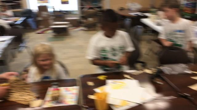 Students in kindergarten to sixth grade perform hands-on STEM related activities this week at Coshocton Elementary School.