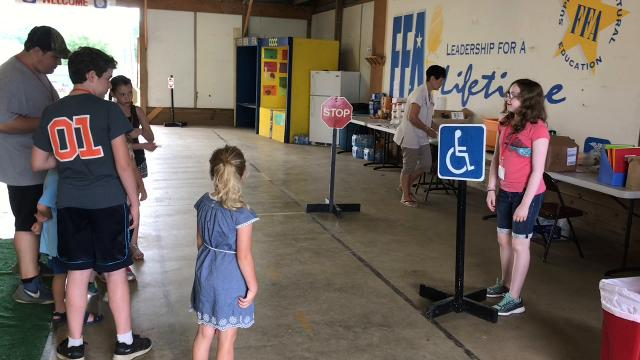 About 50 kids heading into kindergarten will be learning various safety topics through June 28 at the Coshocton Fairgrounds through the American Red Cross program.