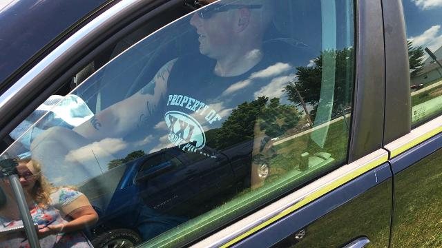 """Fremont community members spend 30 minutes inside a vehicle, a window only slightly cracked, on a 89 degrees day. The """"Beat the Heat"""" event  raises public awareness of the dangers of leaving children or pets in an unattended parked car in the heat."""