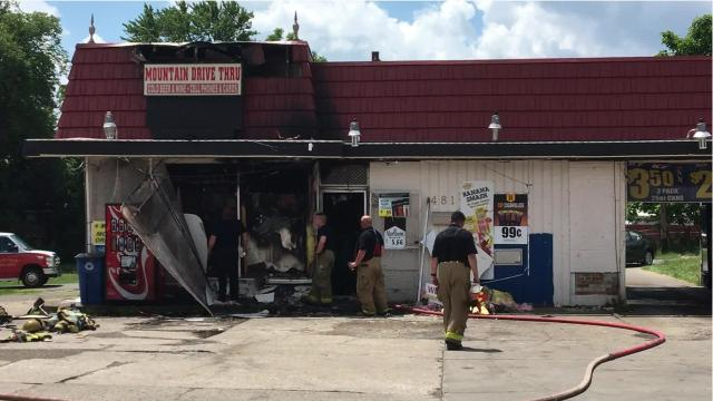 A Sunday morning fire at the Mountain Drive Thru, 481 Springmill St., is under investigation.