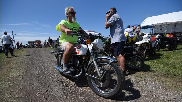 AMA Vintage Motorcycles Days at the Mid-Ohio Sports Car Course was in full swing on Friday as thousands of motorcycle enthusiasts and racers invaded the Mansfield area.