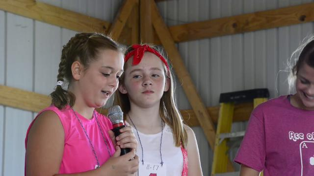 Squeals and oinks abound during the hog calling contest at the Ottawa County Fair.