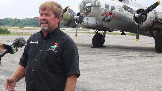 """The B-17 """"Madras Maiden,"""" operated by the nonprofit Liberty Foundation, arrived at the Toledo Express Airport earlier this week and will begin taking people into the air for a historical flight experience this weekend."""