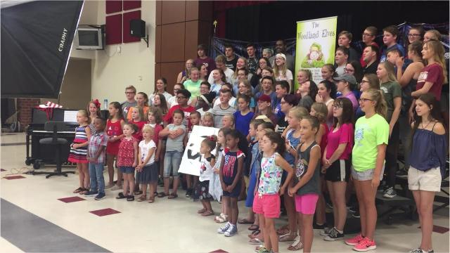 """Shary Williamson, the author of """"The Woodland Elves"""" book series, hopes to inspire instructors from around the world to each create a video of their students singing """"It's a Small World (After All)."""" She said it is way to connect local children to those living across the world."""