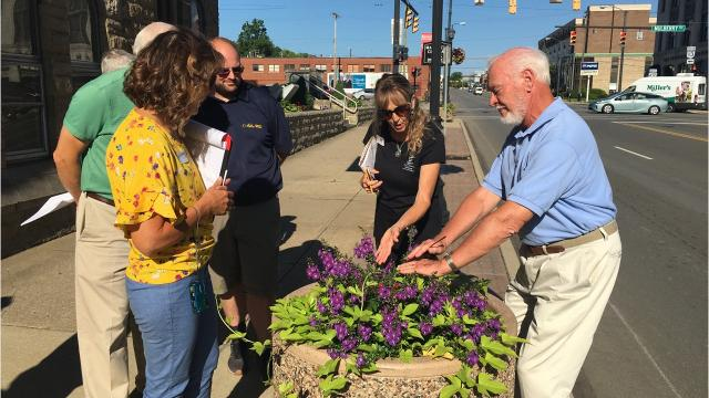 America in Bloom judges Laurie Wheeler and Teresa Woodard toured Mansfield Thursday and will do so again Friday, including museums and historic sites, The Ohio State Mansfield and more.