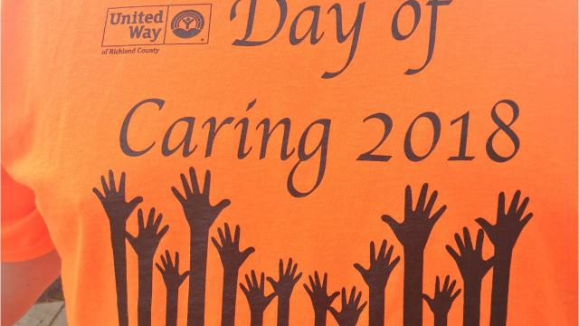 Numerous nonprofits Friday in Richland County benefited from volunteers who lent a hand during the United Way of Richland County's annual Day of Caring.