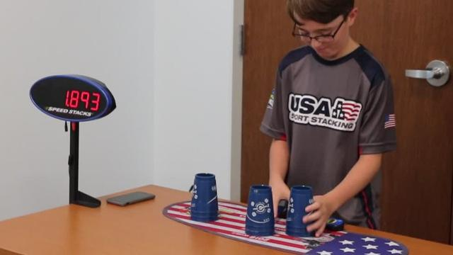 Dominic Pappagallo, of Youngstown, might just be the best 11-year-old sport stacker in the United States and on Saturday he visited the Marblehead Peninsula Branch Library, where he demonstrated his skills and showed local children how much fun the sport can be.