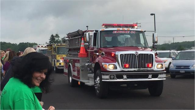 The Crestview Schools opened school Wednesday with its annual parade.
