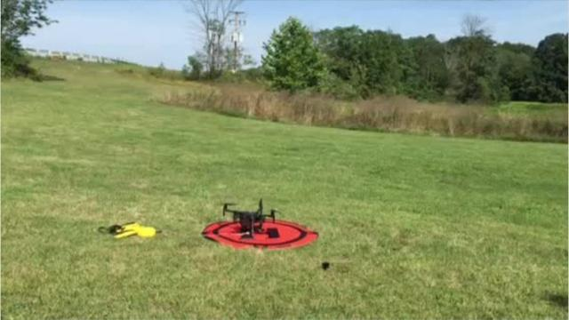 The Mansfield Police Department gave a demonstration with its new drones on Friday. Mark Caudill/News Journal