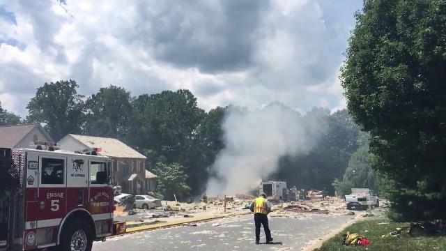 Crews respond to a home explosion in Lancaster County