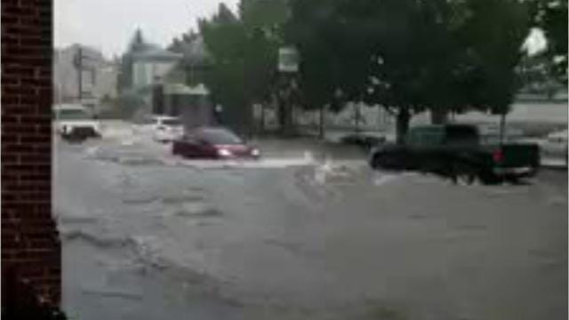 Raw videos: Flooding, storm damage in York area
