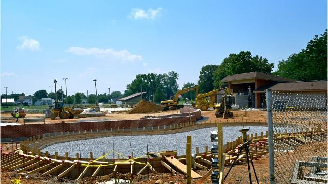 Watch: Family Aquatic Center under construction