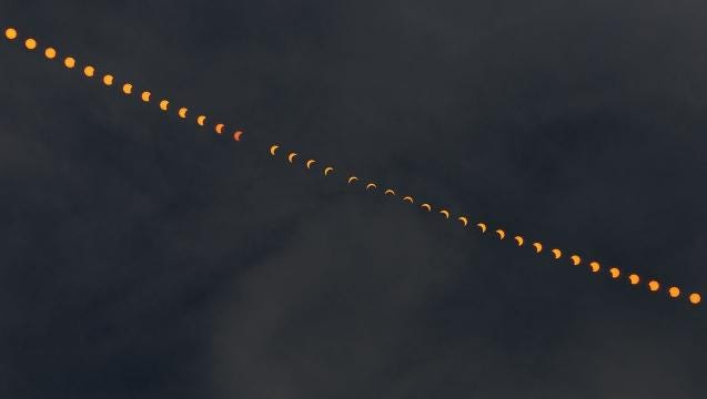 See the solar eclipse in 21 seconds