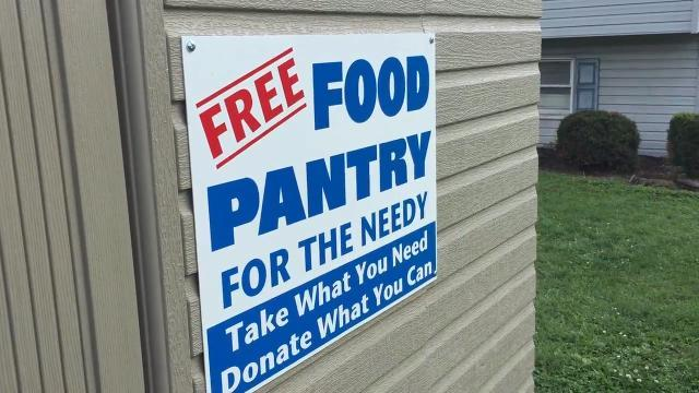 Man has food pantry in his front yard