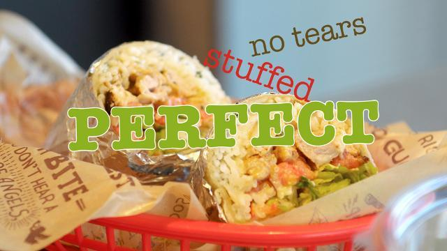 """Hannah DePaulis — Chipotle's mid-Atlantic marketing strategist — and Courtney Harlin — the general manager of the Shrewsbury, Pa. Chipotle — have a few simple tips for rolling the """"perfect"""" burrito."""