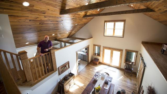 Barn plan evolves into home for family gatherings