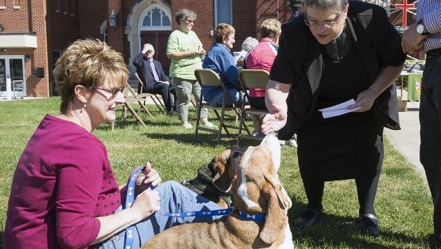 Blessing of the Animals at St. Peter's in North York