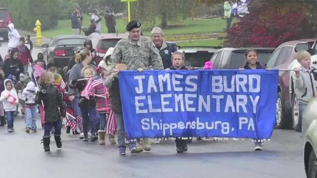 Burd Elementary School Veterans Day parade