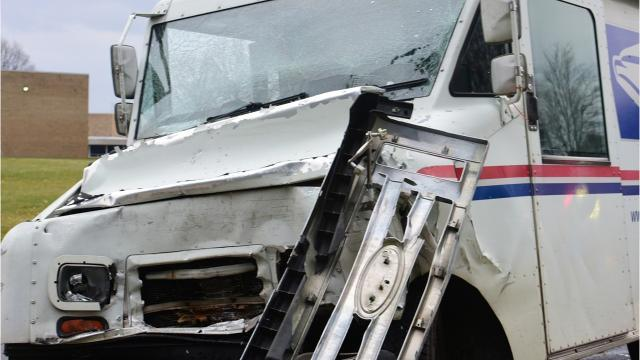 USPS mail truck involved in crash