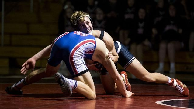 Watch: Action from Dallastown-South Western wrestling match