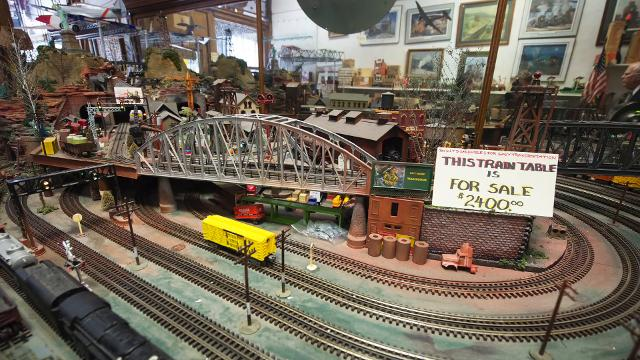Steve Heffner talks about how his love for trains began. His York train store, B&E Junction, is closing.