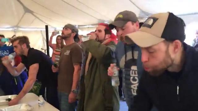Winning the hot pepper eating contest at the Chambersburg IceFest is no small feat.